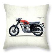 Triumph Bonneville 1966 Throw Pillow