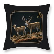 Mule Deer Ridge Throw Pillow