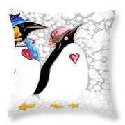 Cold Feet Warm Hearts Throw Pillow