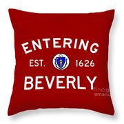 Entering Beverly Throw Pillow