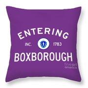 Entering Boxborough Throw Pillow