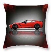 Chevrolet Corvette Stingray Throw Pillow
