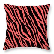 Tiger On White Throw Pillow