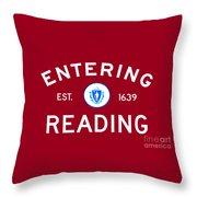 Entering Reading Throw Pillow