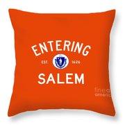 Entering Salem Throw Pillow