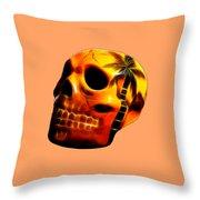 Glowing Skull Throw Pillow
