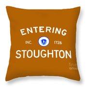 Entering Stoughton Throw Pillow