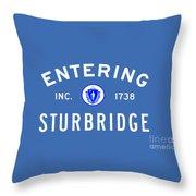 Entering Sturbridge Throw Pillow