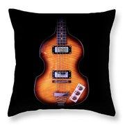 Epiphone Viola Bass Guitar Throw Pillow