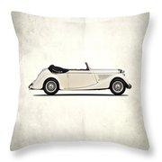 Jaguar Mark Iv Coupe Throw Pillow by Mark Rogan