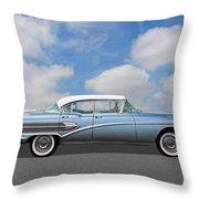 1958 Buick Roadmaster 75 Throw Pillow
