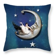 Paper Moon Throw Pillow