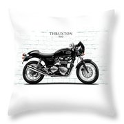 Triumph Thruxton 900 Throw Pillow