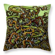 Serpent N Thorns Throw Pillow
