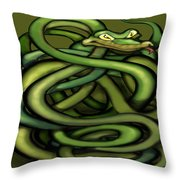 Snakes Throw Pillow