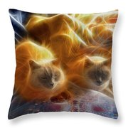 Cuddle Buddies Throw Pillow