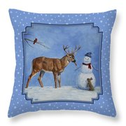 Whose Carrot Seasons Greeting Throw Pillow