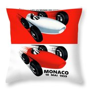 Monaco 1959 Throw Pillow