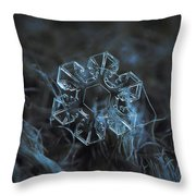 Snowflake Photo - The Core Throw Pillow