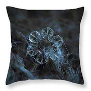 Snowflake Photo - The Core Throw Pillow