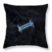 Snowflake Photo - Capped Column Throw Pillow