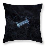 Snowflake Photo - Capped Column Throw Pillow
