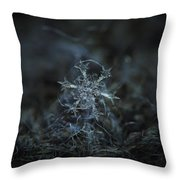 Snowflake Photo - Starlight Throw Pillow