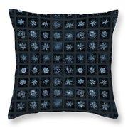 Snowflake Collage - Season 2013 Dark Crystals Throw Pillow