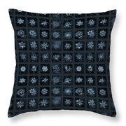 Snowflake Collage - Season 2013 Dark Crystals Throw Pillow