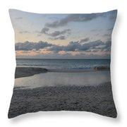 Aruba Beach At Dusk Throw Pillow