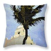 Aruba Palm Throw Pillow
