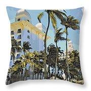 Aruba Palms Two Throw Pillow
