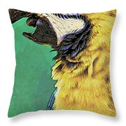 Aruba Yellow Throw Pillow