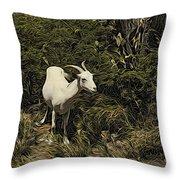 Arubagoat Throw Pillow