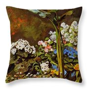 Arum And Conservatory Plants 1864 Throw Pillow