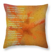As Close As A Hand Hold  Throw Pillow