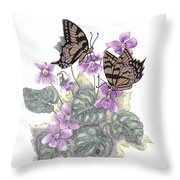 As Close To The Flowers Throw Pillow