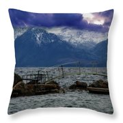 As Evening Draws In Throw Pillow