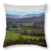 As Far As The Eyes Can See Throw Pillow