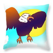 As High As An Eagle Throw Pillow