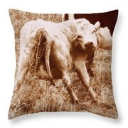 As I Look Back Throw Pillow
