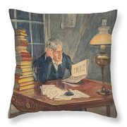 As I Read Over The Lives Of These Robbers And Pickpockets Throw Pillow