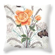 As I Ride The Butterfly Throw Pillow