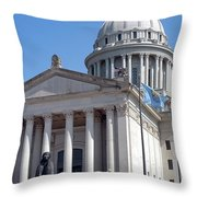 As Long As The Waters Flow Throw Pillow