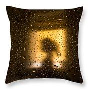 As Seen Through A Shower Door, A Girl Throw Pillow