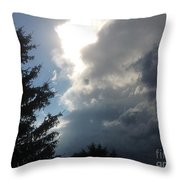 As The Clouds Move Across The Sky Throw Pillow