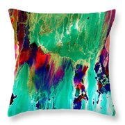 As The Colors Blend.. Throw Pillow