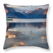 As The Day Ends At West Glacier Throw Pillow