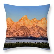 As The Sun Rises Throw Pillow