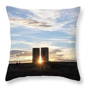 As The Sun Sets Throw Pillow
